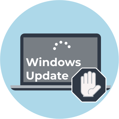 If you want to stop Windows 10 update in progress ...