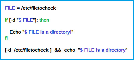 Bash command to check if directory exist