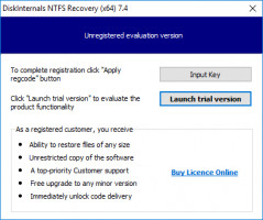 DiskInternals NTFS Recovery - launch trial version