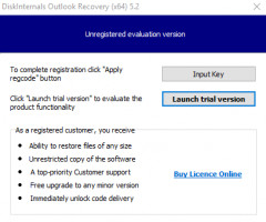 DiskInternals Outlook Recovery - launch the software