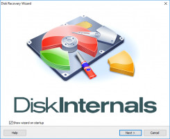 Disk Recovery Wizard's welcome window