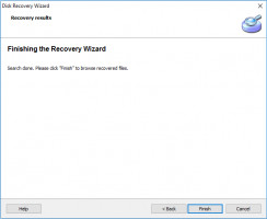 Disk Recovery Wizard - the scanning is done.