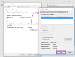 Change the paging file size for your drives and system compressed memory would not be high