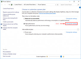 click on Change advanced power settings