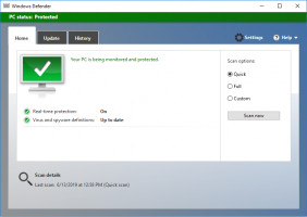 Run Windows defender to check the computer for viruses