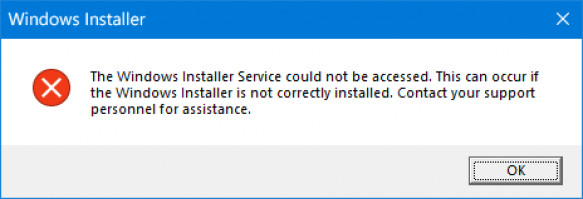 Windows installer service could not be accessed issue.