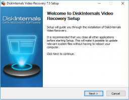 Video Recovery - setup welcome window.