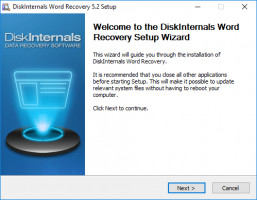 DiskInternals Word Recovery - install the software